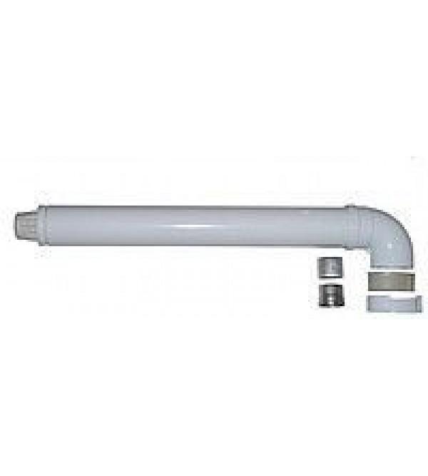Димоход коаксиальный Ariston 750 мм, ø 60/100 с коленом для турбированного котла, 3318001
