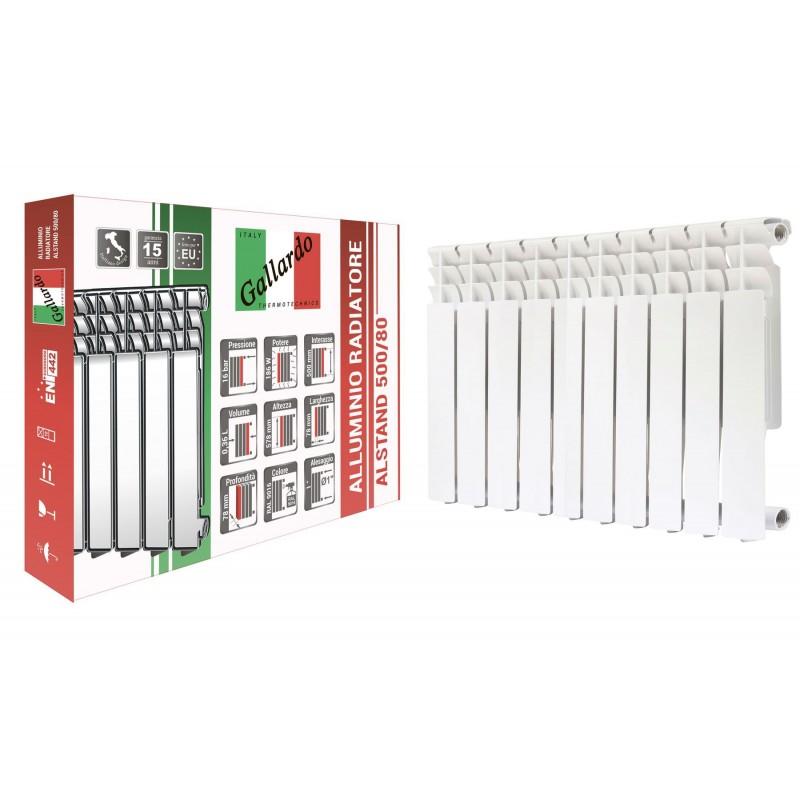 Радиатор алюминиевый секционный GALLARDO ALSTAND 500/80 (кратно 10)