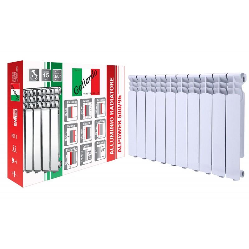 Радиатор алюминиевый секционный GALLARDO ALPOWER 500/96 (кратно 10)