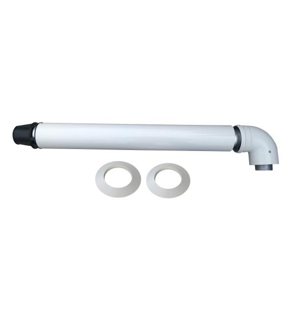 Димохід коаксиальный Ariston Coaxial Flue kit 60/100 750 мм, с коленом 71.MT7.00.02