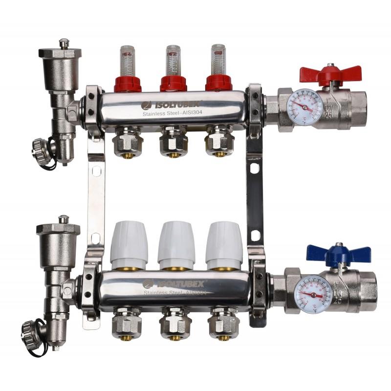 "Коллекторная система ISOLTUBEX INOX AISI-304 CO3 (1"" х  3)"