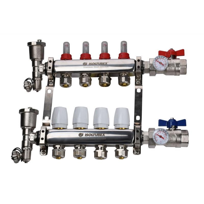 "Коллекторная система ISOLTUBEX INOX AISI-304  CO4 (1"" х  4)"