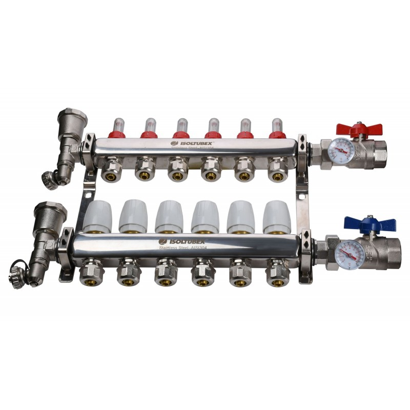"Коллекторная система ISOLTUBEX INOX AISI-304 CO6 (1"" х  6)"