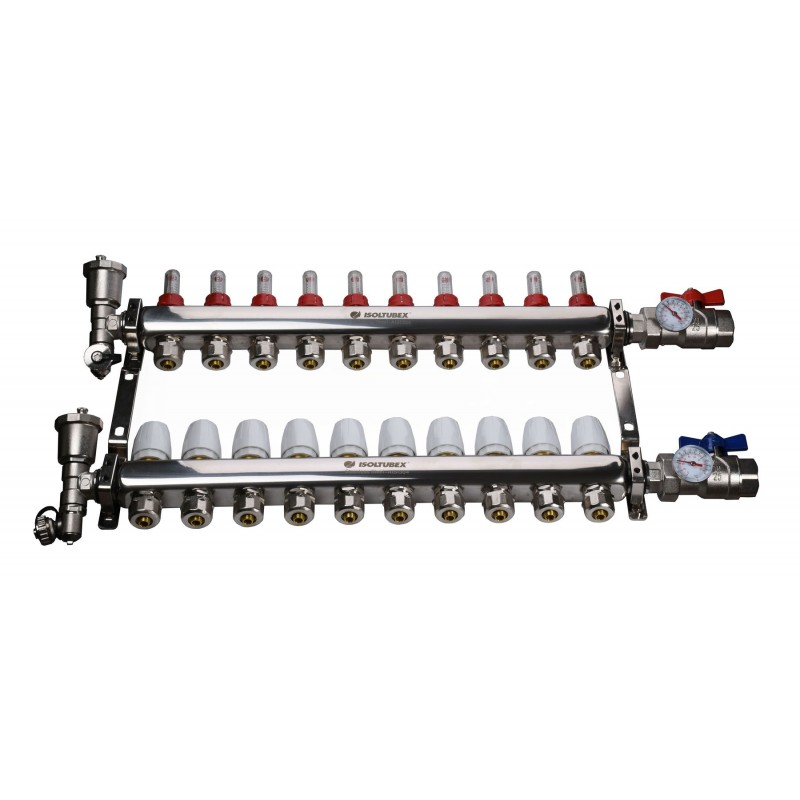 "Коллекторная система ISOLTUBEX INOX AISI-304 CO10 (1"" х  10)"