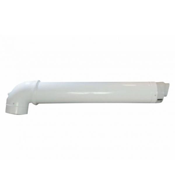 Дымоход коаксиальный для конденсационного котла Ariston 1000 мм, ø 60/100 с коленом, 71.MT7.00.37