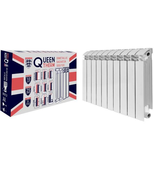 Радиатор биметаллический секционный QUEEN THERM 500/100 (кратно 10)