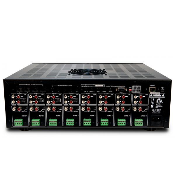 Матричный коммутатор-предусилитель и 16-ти канальный усилитель мощности RTI AD8x
