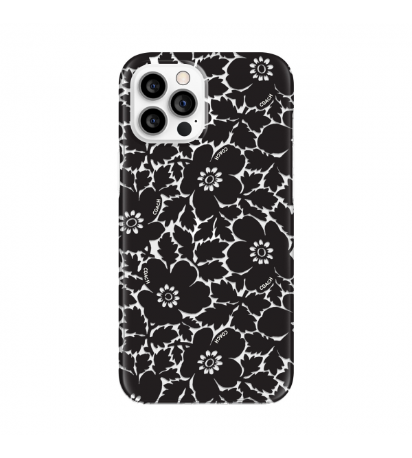 Coach Protective Case for iPhone 12 Pro Max - Bold Floral Black/Clear