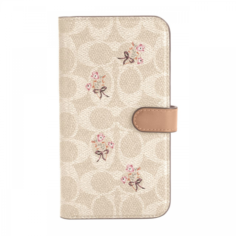 Чохол Coach Folio Case for iPhone 12 Pro Max - Floral Bow Signature C Sand/Multi Printed/Glitter Accents