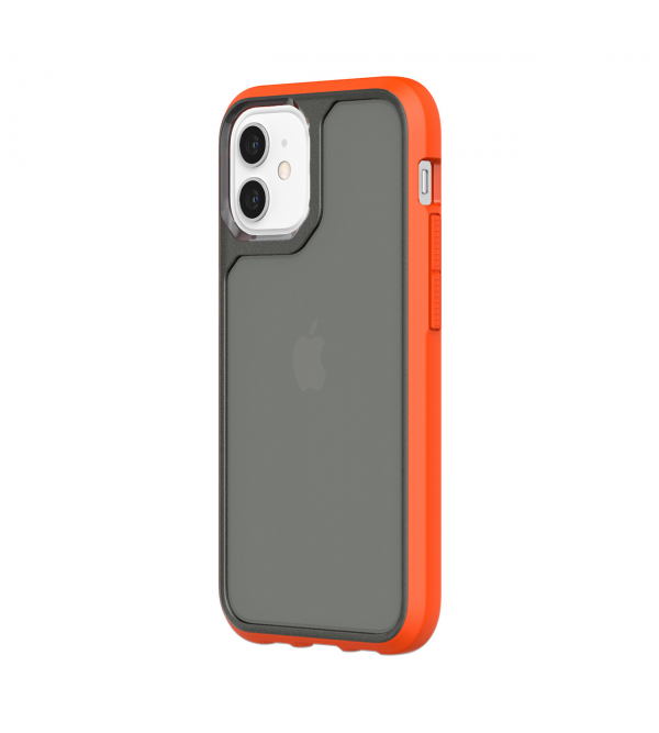 Чохол Griffin Survivor Strong for iPhone 12 mini - Griffin Orange/Cool Gray