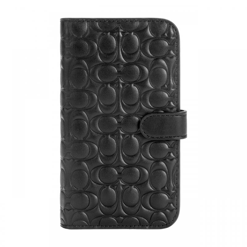 Чохол Coach Leather Folio Case for iPhone 12 Pro - Signature C Deboss Black