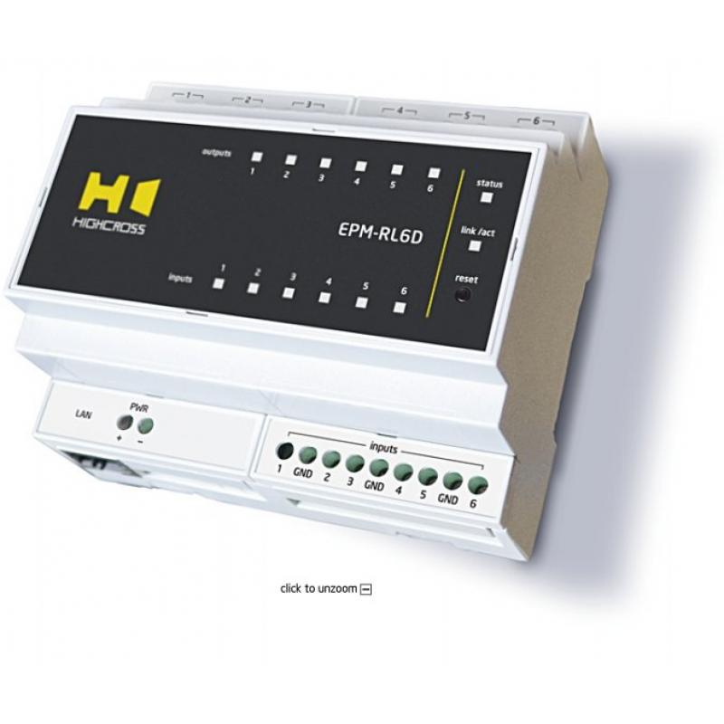 EPM-RL6D Модуль силових реле 6-ти канальний