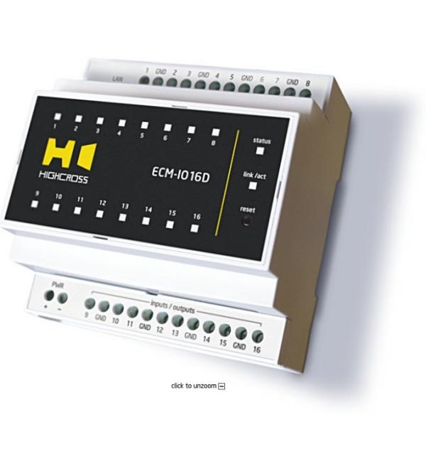 Модуль цифрових входів-виходів 16-и канальний Модуль цифровых входов-выходов 16-и канальный ECM-IO16D