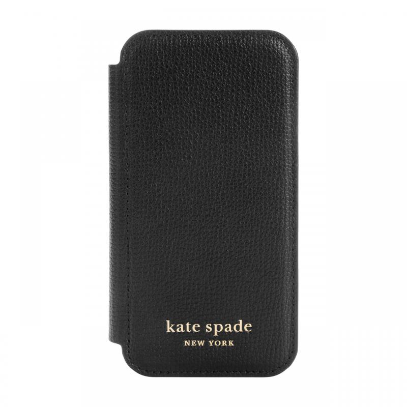 Чохол Kate Spade New York Folio Case for iPhone 12 mini - Black Crumbs/Black PC/Gold Sticker Logo