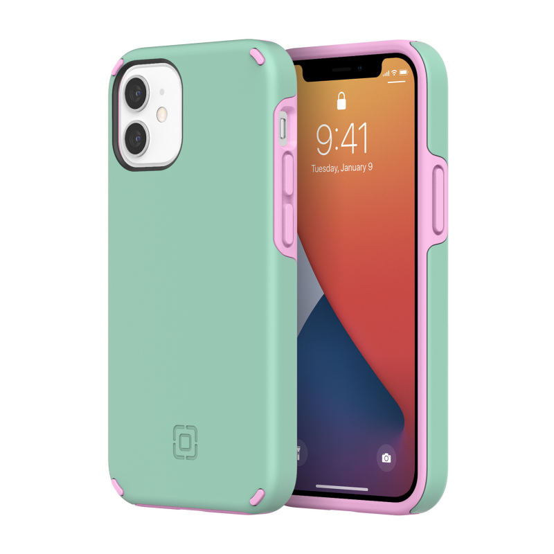 Incipio Duo Case for iPhone 12 mini - Candy Mint/Pink