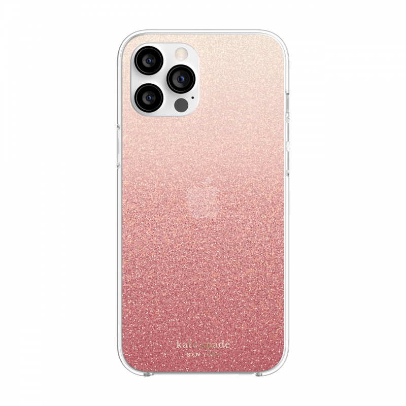 Чохол Kate Spade New York Protective Hardshell Case for iPhone 12 Pro Max - Glitter Ombre Sunset Pink/Multi