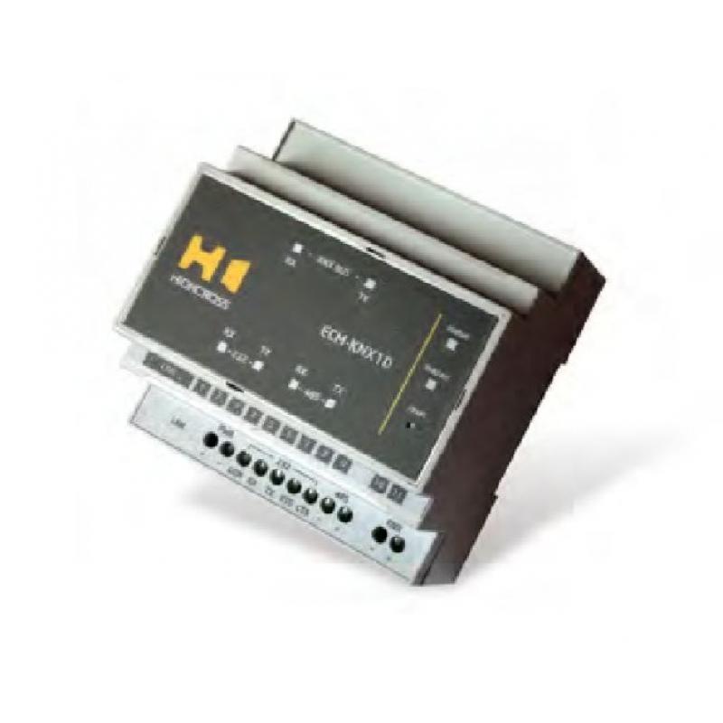 Преобразователь интерфейсов ECM-KNX1D Ethernet/RS232/RS485 на KNX, 1 канал KNX, Ethernet, Din-rail
