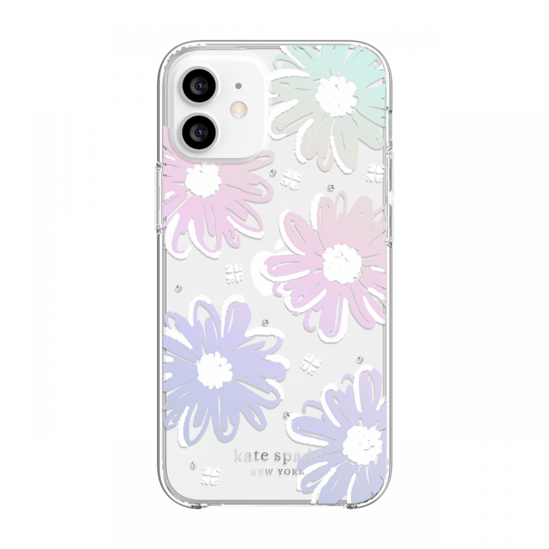 Чохол Kate Spade New York Protective Hardshell Case for iPhone 12 mini - Daisy Iridescent Foil/White/Clear/Gems