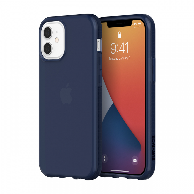 Чохол Griffin Survivor Clear for iPhone 12 mini - Navy