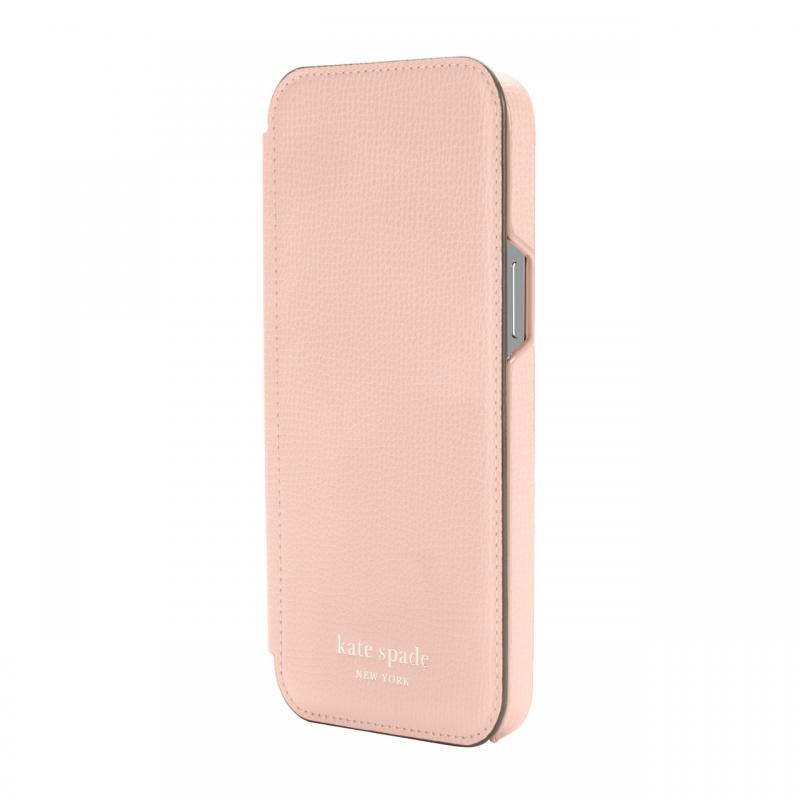 Чохол Kate Spade New York Folio Case for iPhone 12 Pro Max - Pale Vellum Crumbs/Pale Vellum PC/Gold Sticker Logo