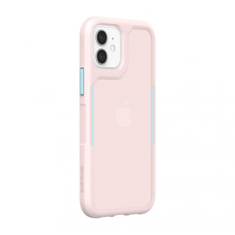Чохол Griffin Survivor Endurance for iPhone 12 Pro - Cloud Pink/Sky Blue/Cloud Pink